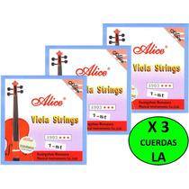 X 3 Cuerdas (la) 1era Individual Para Viola Alice A903 Nueva