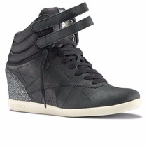 Zapatillas Altas Reebok Dama Freestyle Wedge 100% Originales