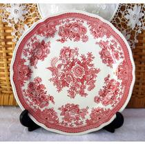Prato Alemão Villeroy & Boch Floral Vermelho E Branco