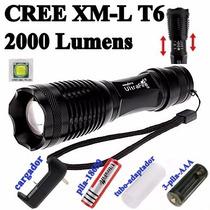 Lampara Led Tactica Ultrafire 2000 Lumens Xml-t6 Recargable