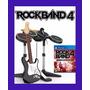 Kit Guitarra+bateria+microfone Rock Band 4 Guitar Hero Ps4