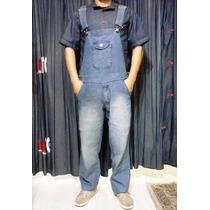 Macacão Jeans Masculino Plus Size 48 / 50 / 52 / 54