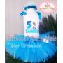 Set Tutu Tutus Elsa Frozen Cumpleaños Vestido Niña Disfraz