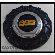 Calota Tampa Centro Roda Bbs Brw 900 Aro 15|17|18 Preta 1 Pç