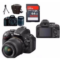 Câmera Nikon D5200 Full Hd Kit 18-55mm+64gb C/10+bolsa+tripé