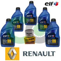 Kit Troca De Oleo Renault 10w40 Total Elf Clio Sandero 1.6