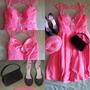 Vestido De Gala Casa Blanca + Zapatos Y Cartera