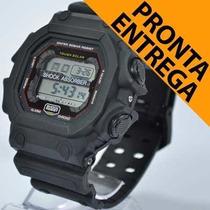 Relógio Masculino Esporte Novo Preto Barato A Prova D`agua