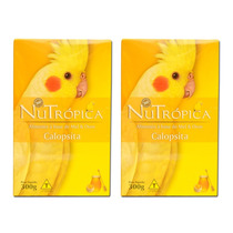 Calopsita Mel Ovos Farinhada Nutrópica Kit C/ 02 Caixas 300g