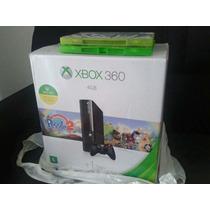 Xbox360 + Sensor Kinect + Controle E Jogos