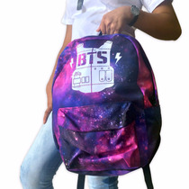 Mochila + Camiseta + Colar Bts Bangtan Boys K-pop Kit Army