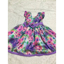 Vestido Infantil De Bolinhas Tamanhos 1 Ao 10