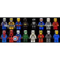Set 16 Armaduras Iron Man Marvel Dc Compatible Con Lego