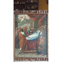 Pintura Antigua 1757, Ascencion De La Virgen Maria,jm.romary