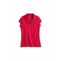Camisa Polo Infantil Tommy Hilfiger Big Girls - Nova!