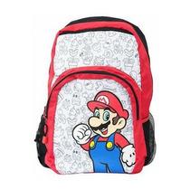 Mochila Super Mario Patron De Villanos Nintendo Wii
