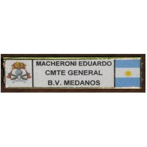 Placa Identificatoria - Bomberos -