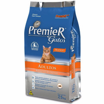 Ração Premier Gatos Ambientes Internos Adultos Frango 7,5 Kg