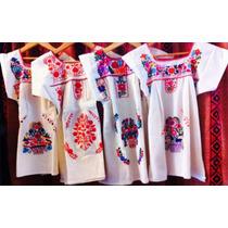 Vestidos Mexicanos Bordados Artesanales Para Niñas
