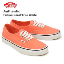 Zapatillas Vans Authentic Fusion Coral / True White