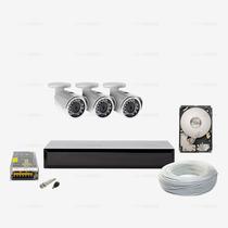 Kit Monitoramento 1tb Ahd 03 Câmera Infravermelho Ccd Sony