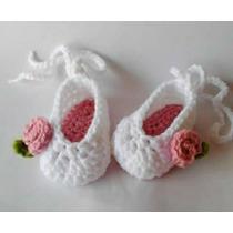 Zapatos O Babuchas Y Sandalias De Bebé Tejidas En Crochet