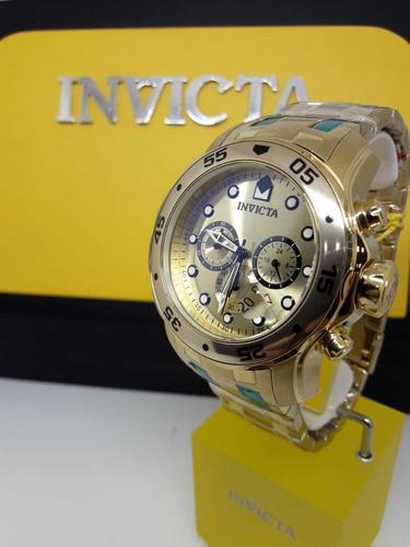 372c83d74ea Invicta 0074 Original Banhado A Ouro - R  600