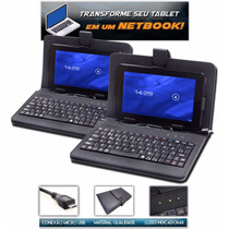 Capa Case Com Teclado Micro Usb V8 Em Português P/ Tablet 7´