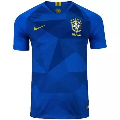 Camisa Camiseta Seleção Brasileira Azul 2018 Copa Lan - R  99 d00c44bd5ef3e