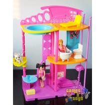 Casa Da Polly Pocket Com Bonecas Móveis E Acessórios Mattel