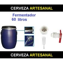 Fermentador Azul Hdpe Alimenticio 60 Litros Cerveza Artesana