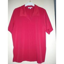 Blusa Roja Talla Grande