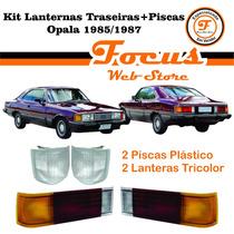Kit Lanternas Traseiras + Piscas Opala 85 86 87 Cristal