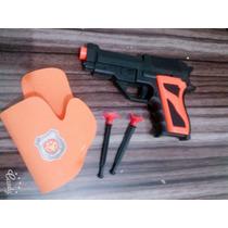 Pistola Brinquedo Blackred Lança Dardos + Coldre