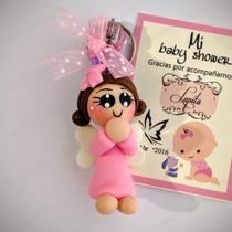 Recuerdos Baby Shower Llaveros Bebés Pasta Francesa