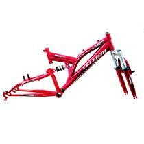 Quadro E Garfo Aro 20 Full Suspension Bicicleta Amortecedor