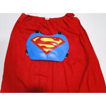 Fantasia Infantil Super Man Peitoral E Capa Vermelha