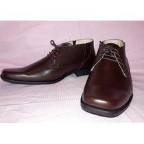 Zapato Botin Hombre Caf+e 100% Cuero Antideslizante 40 41