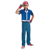Disfraz Ash Niño Traje Entrenador Pokemon