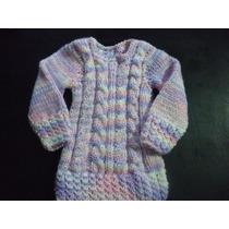Sweater Vestidito Invierno Artesanales Bebes Y Niñas. Breet