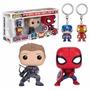 Funko Pop Civil War Spiderman Hawkeye Llaveros Pack