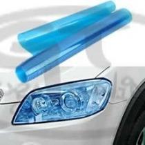 Película Farol Tuning Importada Cor Azul Dark Carro Ou Moto