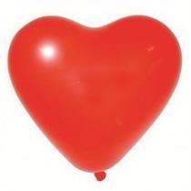 Bexiga Coração Látex Vermelho