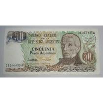Billete 50 Pesos Argentinos Serie A *069