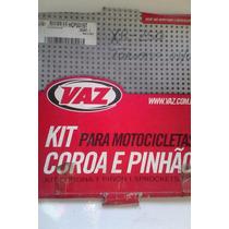 Kit Relação Xr 250 Tornado 2001 / 2008 Coroa + Pinhão Vaz