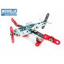Brinquedo De Montar Modelix 201 Mini Box Avião Bimodelo Kit