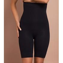 Bermuda Alta Plié Modela Cintura/barriga/perna/bumbum