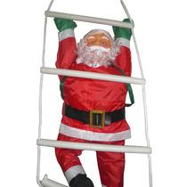 Papai Noel Na Escada Natal Escalador Enfeite Natalino