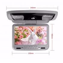 Tela 9 Pol Teto Cinza Leitor Dvd Sony & Games Controle S Fio