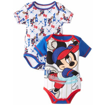 Set 2 Body Disney De Mickey Mouse De Niños 100% Original